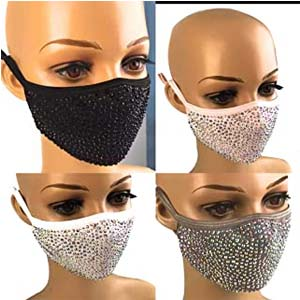 Generic Sparkly Rhinestone Fashion Fabric Mask - Best Masks for COVID: Sparkly for party
