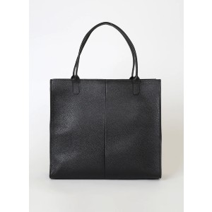 Lulus Speak Up Black Leather Tote Bag - Best Tote Bags for Women: Flat Bottom Design with Gold Feet