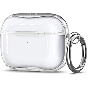 Spigen Ultra Hybrid Designed for Apple Airpods Pro Case (2019) - Best Airpods Pro Case: Clear and Simple to Show Off Apple AirPods Pro