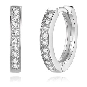 Spoil Cupid Small Cartilage Earring Hoop Huggie Stud - Best Jewelry for Conch Piercing: Best for sensitive skin