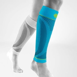 Bauerfeind Sports Compression Sleeves Lower Leg - Best Compression Shin Splint Sleeves: Extra-Wide Supportive Band for a Comfortable Fit