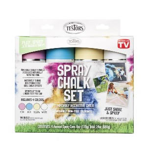 Testors Spray Chalk 6 oz. Spray 4 Color Kit - Best Chalk Paint for Crafts: Outdoor Fun Any Season and Any Time of Year