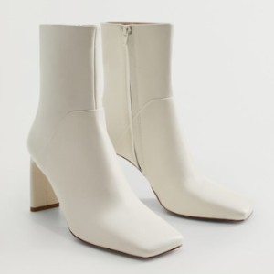 Mango Squared toe leather ankle boots - Best Boots for Women: Produced Using Sustainable Fibers