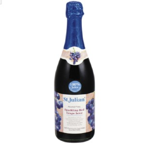 St. Julian Sparkling Red Grape Juice - Best Alcohol-Free Wine: Classic American Juice From 100% Concord Grape