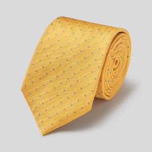 Charles Tyrwhitt Stain Resistant Silk Textured Spot Tie - Best Ties for Light Grey Suit: No more stain!
