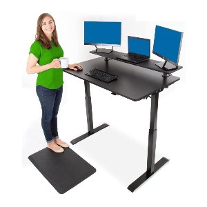 Stand Steady Tranzendesk Power 48 Inch Standing Desk - Best Standing Desk for Teachers: Standing Desk with Shelf