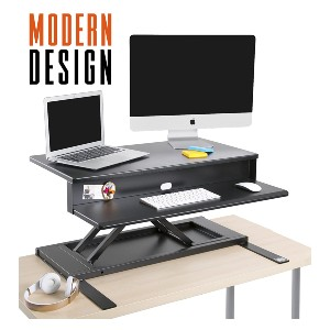 Stand Steady Flexpro Air Standing Desk - Best Standing Desk Converter for Tall Person: Traditional Standing Desk