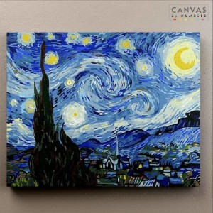 Canvas by Numbers Starry Night - Vincent Van Gogh - Best Paint by Number Kits for Adults: The Infamous Painting In The World