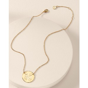 Stella & Dot Signature Engravable Disc Necklace - Best Necklace for Mom: Personalize Necklace