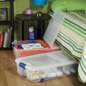 Sterilite 66 Qt. Ultra™ Storage Box - Best Under The Bed Shoe Storage: Clear Base and Lid Storage