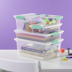 Sterilite 19658604 Deep Clip Box - Best Storage Containers for Books: Bye, moisture!