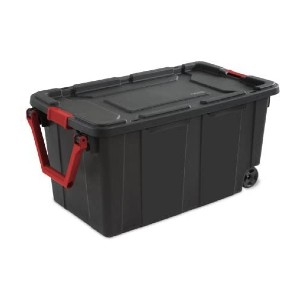 Sterilite 40 Gal./151 L Wheeled Industrial Tote - Best Storage Container Homes: Best for moving