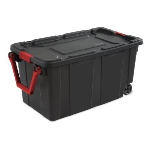 Sterilite 40 Gal./151 L Wheeled Industrial Tote - Best Storage Containers for Moving: Rolling over rough surfaces