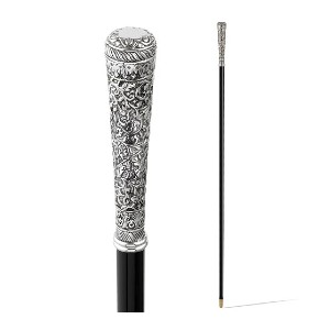 Scully & Scully Sterling Silver Handled Italian - Best Walking Sticks for Self Defense: Attractive Range of Handles Plated