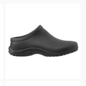 Bogs Stewart Black Womens Clogs - Best Waterproof Shoes for Nurses: Durable and Fresh Technology for Anti-Odor