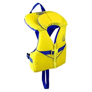 Stohlquist Infant PFD Yellow/Blue  - Best Floats for Toddlers: V-neck collar shape