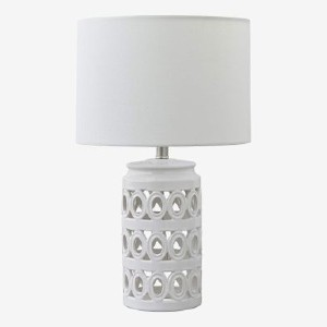 Stone & Beam Ceramic Geometric Cut-Out - Best Bedside Lamp: Modern look ceramic lamp