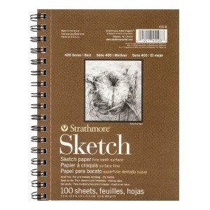 Strathmore 400 Series Sketch Pad - Best Sketchbook for Beginners: High-quality paper