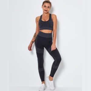 Lulacola Stripe Seamless Knitted Active Set - Best Activewear for Women: Leaving you dry