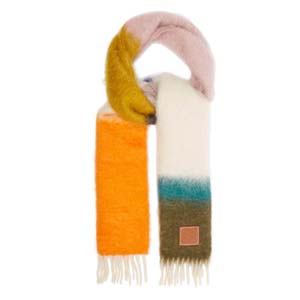 Loewe Striped mohair-blend scarf - Best Scarves for Winter: Classy colors and tones