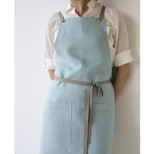 Studiopatro CROSSBACK LINEN APRON - Best Cooking Aprons: Easy to Wash Apron