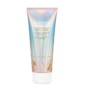 Pacifica Sugared Crystal Supercharged Body Scrub - Best Body Scrub for Glowing Skin: Tube 50% Recycled Plastic