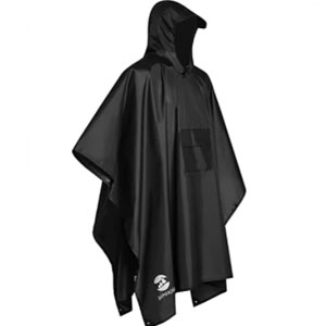Summer Mae Store Waterproof Poncho Hooded - Best Raincoats for Fishing: Raincoat with Front Pocket Zip