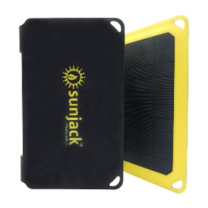 SunJack 15W Solar Charger Portable Solar Panel  - Best Solar Panel for Backpacking: Wall-outlet charging speeds