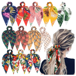 Sunaction Hair Scarf Scrunchies - Best Scrunchies on Amazon: High-Quality Material