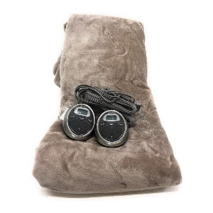 Sunbeam Queen Size Heated Blanket Luxurious Velvet Plush  - Best Foot Warmers for Bed: Maintains consistent temperature
