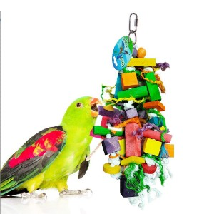 SunGrow Foraging Blocks for Birds - Best Bird Toys for Budgies: Less lonely and aggressive