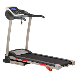 Sunny Treadmill with Device Holder - Best Treadmills for Home Use: Easy Folding Mechanism