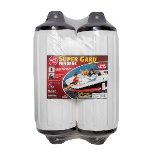 Taylor Made Super Gard™ Fender 2 - Best Boat Fenders for Bass Boats: Double Molded Black Ends for Extra Strength