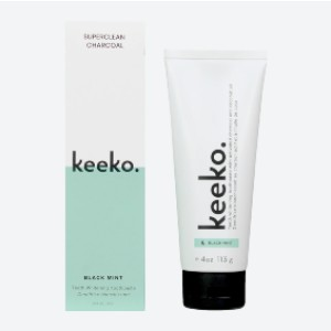 Keeko Superclean Charcoal Toothpaste - Best Toothpaste to Remove Plaque: Natural and vegan