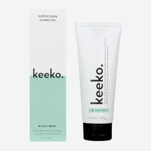 Keeko Superclean Charcoal Toothpaste - Best Toothpaste without Fluoride: Natural and vegan