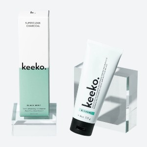 Keeko Superclean Charcoal Toothpaste - Best Toothpaste to Use with Braces: Natural and vegan