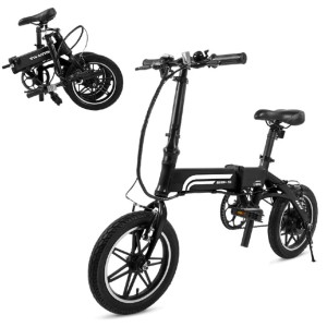Swagtron Swagcycle EB-5 Lightweight & Aluminum Folding Ebike with Pedals - Best Electric Bike for Seniors: Adjustable Height, Seat, and Handlebar
