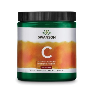 Swanson Vitamin C Powder - Best Vitamin C Supplement for Adults: Good for Skin and Blood Vessel
