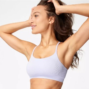 Sweaty Betty Foundation Seamless Padded Yoga Bra - Best Sports Bra with Padding: High Support in Simple Sports Bra