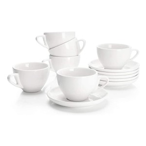 Sweese Porcelain Cappuccino Cups - Best Porcelain Espresso Cups: For informal and formal