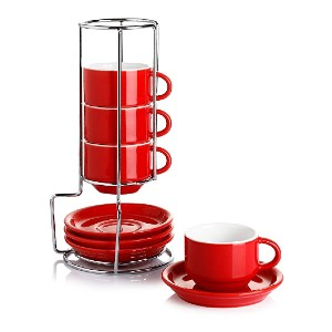 Sweese Stackable Espresso Cups  - Best Porcelain Espresso Cups: Space-saving design