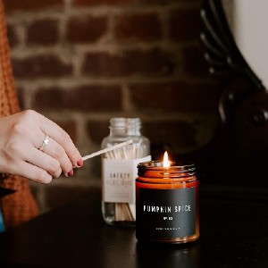 Sweet Water Decor Pumpkin Spice Candle - Best Scented Candles on Amazon: Pumpkin Scent for Warm Environment