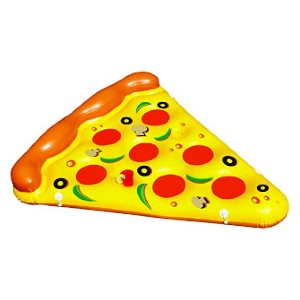 Swimline Inflatable Pizza Slice Pool Float  - Best Floats for Adults: Have fun with pizza-shaped float