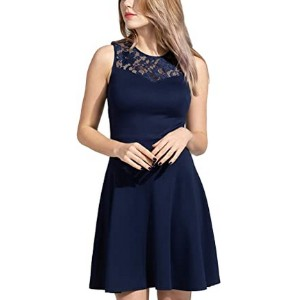 Sylvestidoso Women's A-Line Pleated Party Dress - Best Party Dresses for Teenage Girl: Comfy and lovely