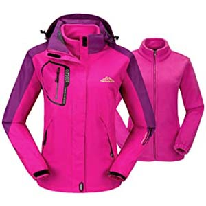 TBMPOY Women's 3-in-1 Winter Ski Jacket Outdoor - Best Raincoats for Iceland: 3 features in 1 product