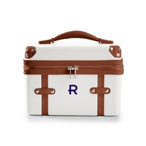 Mark & Graham TERMINAL 1 COSMETIC CASE - Best Makeup Case for Travel: Leather Top Handle