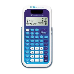 Texas Instruments TI-34 MultiView - Best Calculators for High School: Quickly View Fractions and Decimals