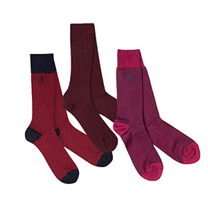 LONDON SOCK COMPANY THE BURGUNDY - Best Socks for Men: Rich and Sophisticated Socks