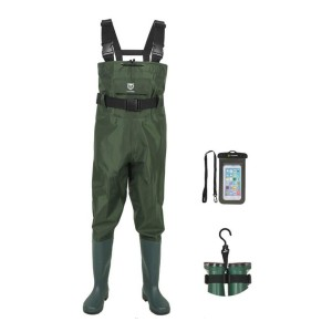TideWe Bootfoot Chest Wader - Best Saltwater Waders: Rugged material