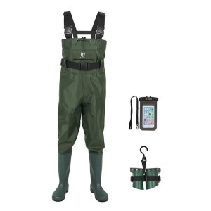 TideWe Bootfoot Chest Wader - Best Waders for Fishing: Comes with waterproof phone case